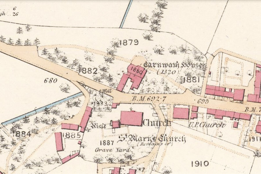 map of Carnwath House