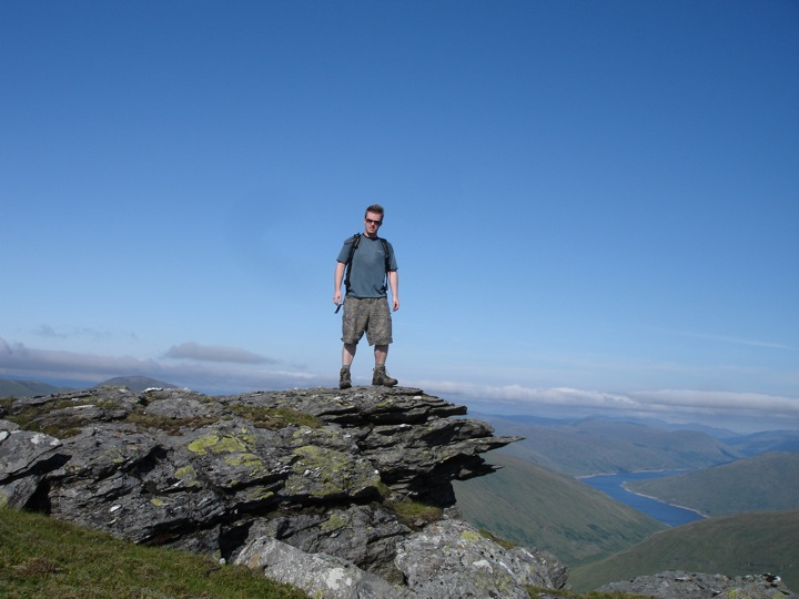 Andy Sweet on Beinn Dorain