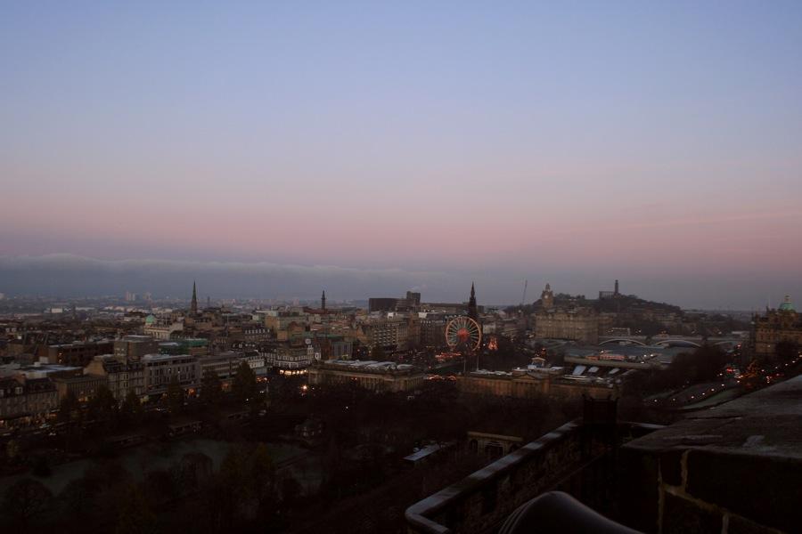 view of Edinburgh from Edinburgh Castle