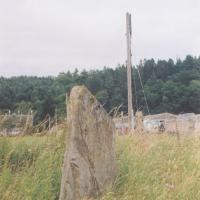 Clach Glas standing stone, Perthshire