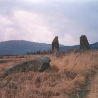 East Cult standing stones, Perthshire