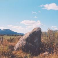 West Cowden Farm standing stone and rock art, Perthshire