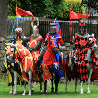 Jousting at Linlithgow Palace and three castles in Edinburgh