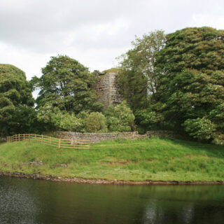 Cairns Castle and Harperrig Reservoir