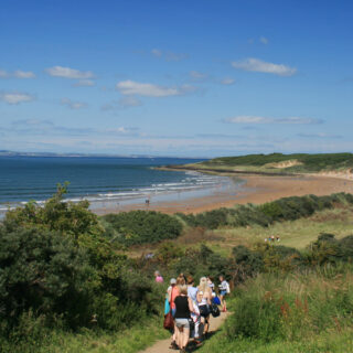 Gullane beach, and castles on the way home