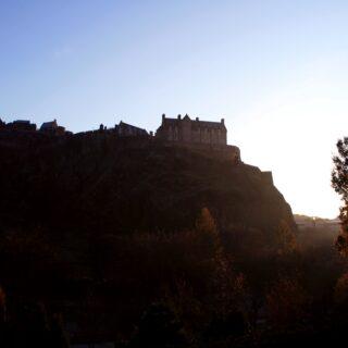 Edinburgh Castle on St. Andrew's Day