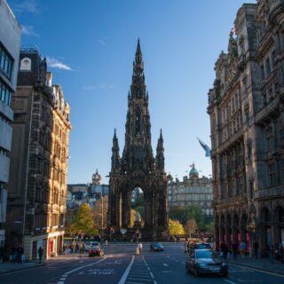 Climbing the Scott Monument in Edinburgh