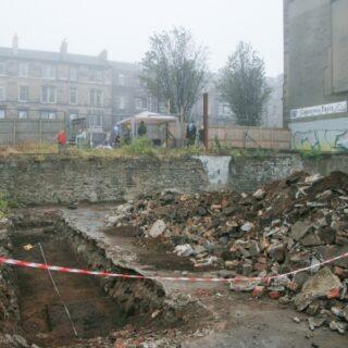 Excavating the old Botanic Gardens in Edinburgh